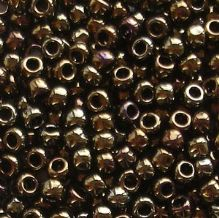 Toho 8/0 Seed Beads Metallic Brown Iris 83 - 10 grams